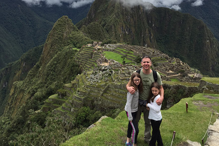 The Horvath Family at Machu Picchu.