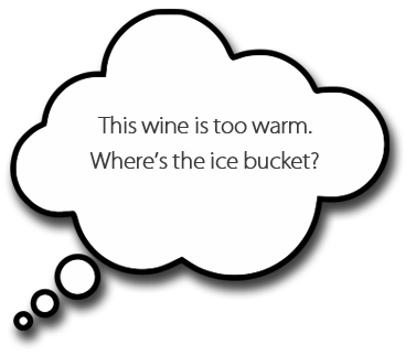 Dean Horvath thinks the wine is too warm.