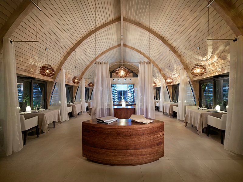 Les Mutinés is the fine dining restaurant at The Brando.