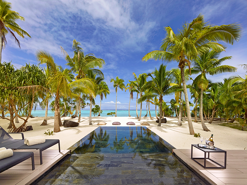 Every suite has a pool at The Brando.