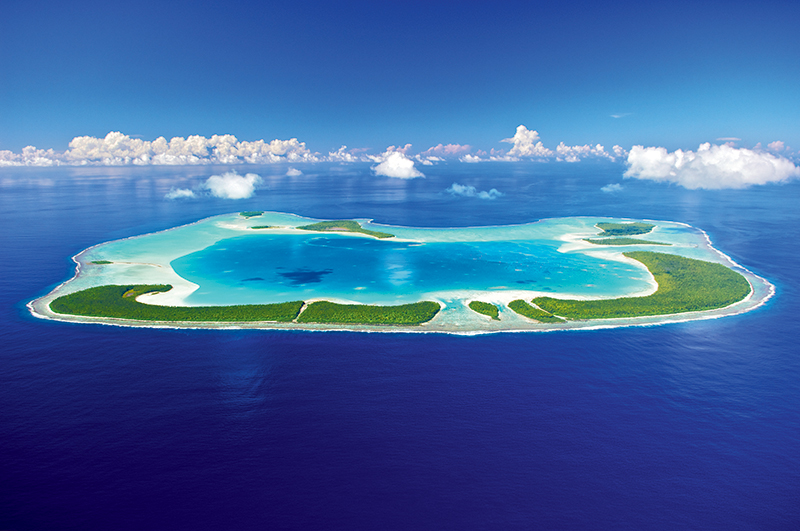 The French Polynesian Island of Tetiaroa is actually made up of 13 small