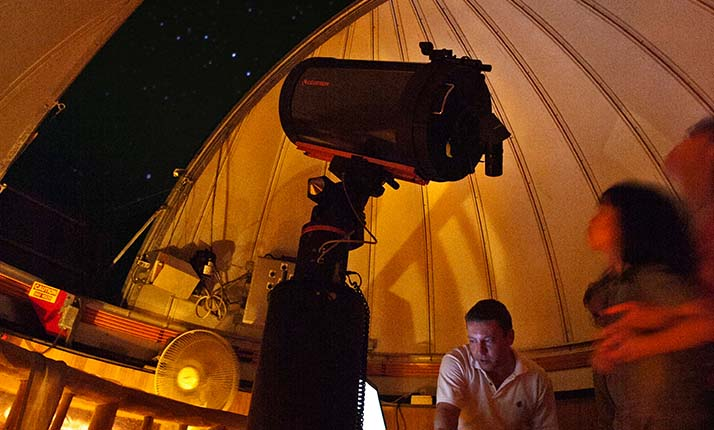 View the stars with their state-of-the-art observatory.